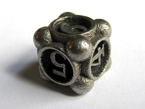 Spore d6 in Polished Bronzed Silver Steel