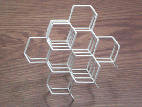 Diamond Lattice in White Strong & Flexible