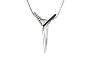 YOUNIVERSAL 3T Origami, Pendant. Sharp Chic in Polished Silver