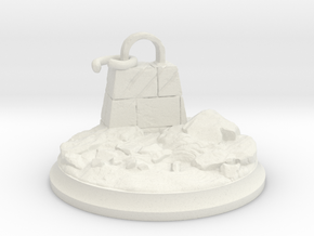 Broken Dragon Anchor - Tabletop Base 40 mm in White Premium Versatile Plastic