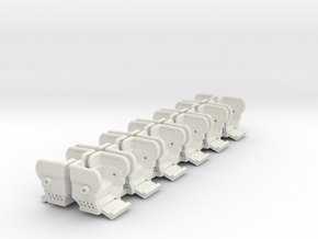 Big Eli HY 5 HO scale seats with guards 12 pack   in White Natural Versatile Plastic