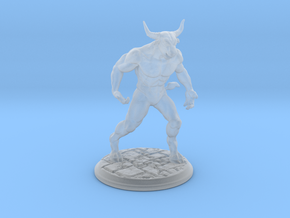 Minotaur Miniature 40mm in Smooth Fine Detail Plastic