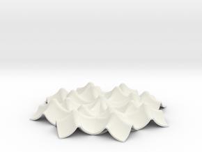 Napkin double Keyholder in White Natural Versatile Plastic