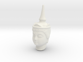Type 2 Buddha Head (Hollow) 92mm in White Natural Versatile Plastic