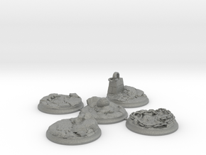 """Set of five 40 mm Bases for my """"Lava World"""" series in Gray Professional Plastic"""
