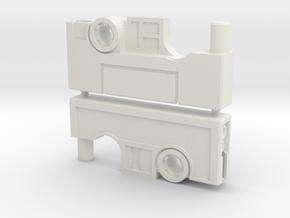 Cassette Pistol Set (5mm) in White Natural Versatile Plastic