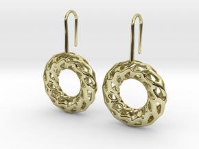 DRAGON, Omega Earrings.  in 18k Gold Plated Brass