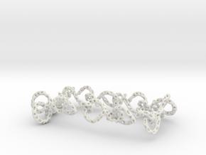 infinity_necklace_ voronoi in White Natural Versatile Plastic