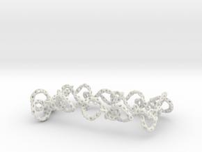 infinity_bracelet_ voronoi in White Natural Versatile Plastic