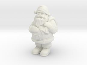 Santa Claus in White Natural Versatile Plastic