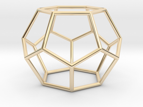 Fullerene with 14 faces in 14k Gold Plated Brass