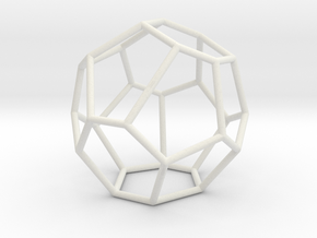 Fullerene with 16 faces, no. 2 in White Natural Versatile Plastic