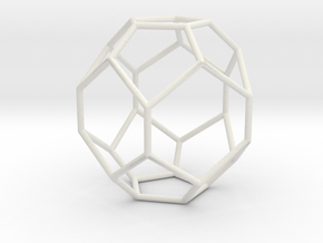 Fullerene with 17 faces, no. 1 in White Natural Versatile Plastic