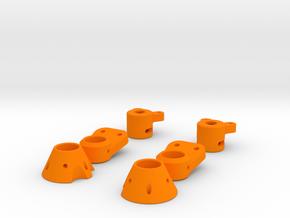 Berg Tube Adaptor for 12mm OD CF tube in Orange Processed Versatile Plastic