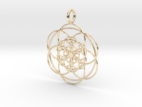 Seed in Seed 34mm in 14k Gold Plated Brass