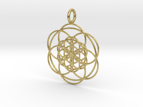 Seed in Seed 34mm in Natural Brass