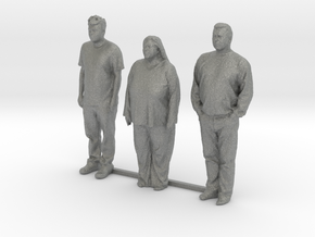 S Scale people standing 8 in Gray PA12