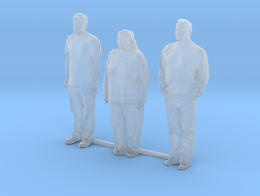 O Scale people standing 8 in Smooth Fine Detail Plastic