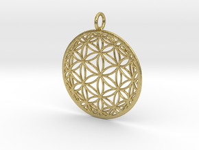 Hyperbolic Seed of Life 40mm in Natural Brass