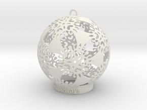 Flower Snowflake Ornament in White Natural Versatile Plastic
