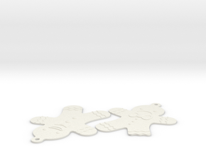 Gingerbread Man in White Natural Versatile Plastic