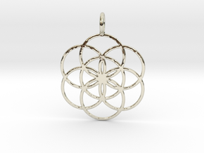 Seed of Life 33mm in 14k White Gold