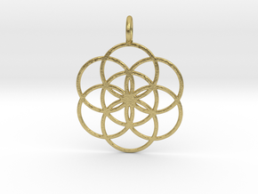 Seed of Life 33mm in Natural Brass