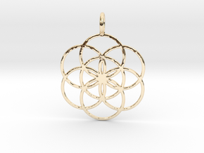 Seed of Life 33mm in 14k Gold Plated Brass