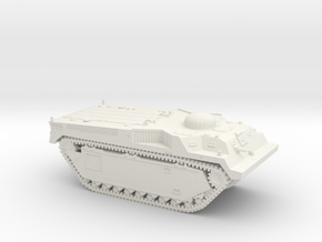 1/87 LVT-3C with round turret in White Natural Versatile Plastic