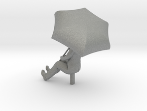 HO Scale Man with an Umbrella in Gray Professional Plastic