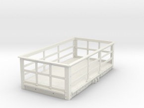 FRB02 - LNWR 2 Ton Iron Slate Wagon (Unbraked) SM3 in White Natural Versatile Plastic