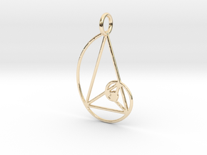 Golden Triangle Spiral 30x52 mm in 14k Gold Plated Brass