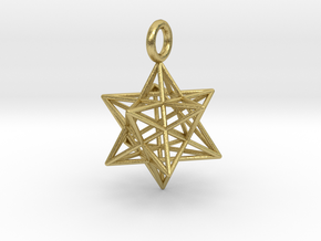 Stellated Dodecahedron - 2 sizes - 23mm & 31mm in Natural Brass: Small