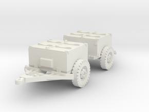 M8 armoured limber (2 pieces) scaler 1/100 in White Natural Versatile Plastic