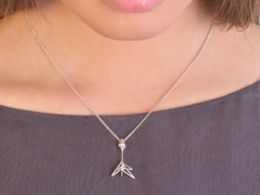 Little Tree N5 ,Fine Pendant. Pure Elegance in Polished Silver