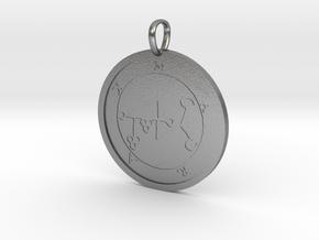 Marax Medallion in Natural Silver
