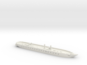 1/1250 Warrior-class (1860/1861) Gaming Models in White Natural Versatile Plastic