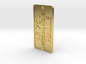 WEGELIN & HÜBNER Typenschild 2-Loch Ausführung in Polished Brass