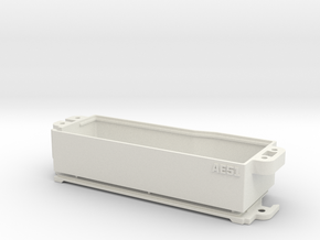 RC8B3.1 Enclosed Battery Box in White Natural Versatile Plastic