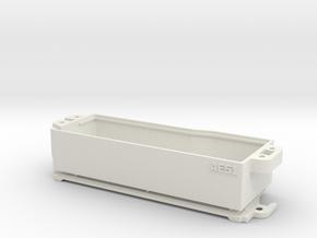 RC8B3.1 Enclosed Battery Box in White Natural Versatile Plastic