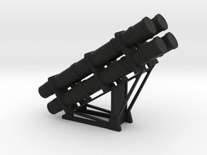 1:96 scale Harpoon Launcher - loaded in Black Premium Versatile Plastic