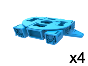 Aerial Robot Accessory, Recon Base in Smooth Fine Detail Plastic