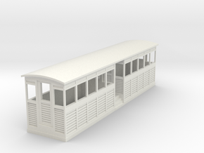 Tramway style coach (full closed) in White Natural Versatile Plastic