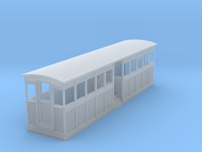 Tramway style coach (full closed) in Smooth Fine Detail Plastic