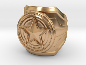 CS:GO Service Medal Ring - wide band in Polished Bronze