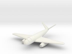 """(1:144) Messerschmitt Me P.1090 """"Modular Aircraft"""" in White Natural Versatile Plastic"""