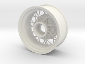 1:8 Wire Wheel Wide Version in White Natural Versatile Plastic