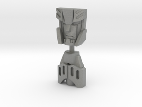 RiD Megatronus/Fallen Face Plates, G1 Style in Gray Professional Plastic
