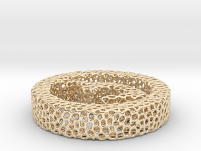 724yoga8 voronoi in 14k Gold Plated Brass