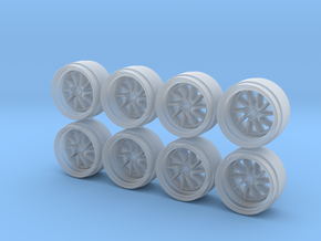 AIM MA-11 9 Hot Wheels Rims in Smoothest Fine Detail Plastic